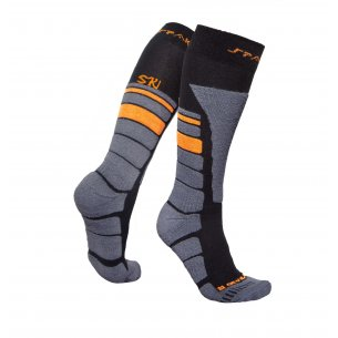Spaio Thermo Ski skarpety THERMOLITE - Black / Grey / Orange