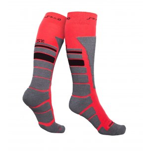 Spaio Thermo Ski skarpety THERMOLITE - Black / Grey / Red